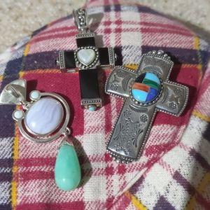 Silver pendants